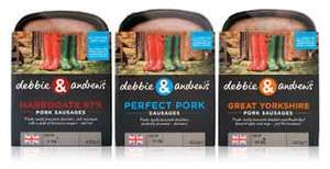 Debbie and Andrews sausages only 50p after cashback Sainsburys and Asda.