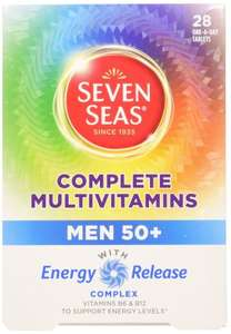 Seven Seas Men 50+ Complete Multivitamins With Energy release Complex x 28 One A Day Tablets £1 @ Poundland In Store
