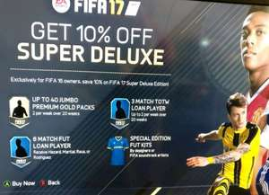 Fifa 17 Super Deluxe Version for owners of Fifa 16 & EA Access £63.99 @ Microsoft