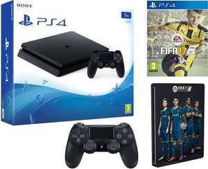 **Deal for Amazon Student only** Sony PlayStation 4 1TB Slim + FIFA 17 + Additional New DS4 + Steelbook £329.99 or £296.99 @ Amazon after 10% Student Discount