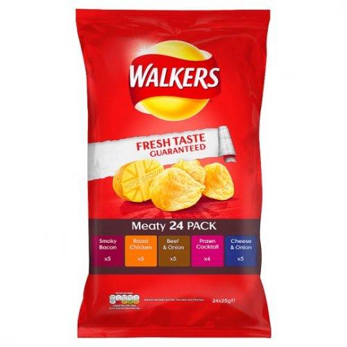 Walkers Meaty Variety 24 Pack £2 @ Sainsburys