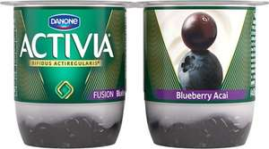 Danone Activia Fusion Blueberry Acai Yoghurt (4 x 125g) Better Than Half Price was £2.20 now £1.00 @ Tesco
