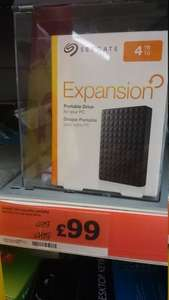 Seagate Expansion 4TB portable USB 3 hard drive £99 in Sainsbury's Eltham