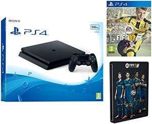 Sony PlayStation 4 ps4 500GB Slim + FIFA 17 Standard Steelbook (Exclusive to Amazon.co.uk) £237.99 Amazon student 15% off