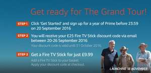 Sign Up to Amazon Prime (£79.99) & Get a £9.99 Fire TV Stick - The Grand Tour Promo