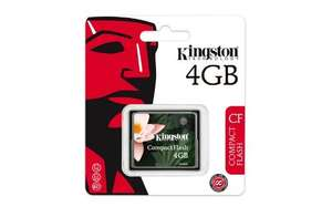 Kingston 4GB Compact flash card £2.99 @ Amazon (Add on item)