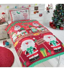 Personalised single Christmas bedding £9.99 @ Studio (£4.99 del if under £20)