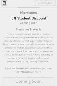 10% Student discount coming soon at Morrisons - Starts 21st Sept