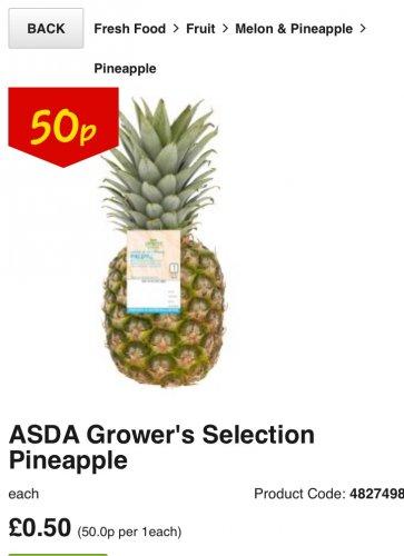 Pineapple @ Asda 50p (C&C)