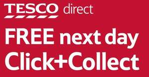 Free click and collect on all orders from 21st September at Tesco direct .