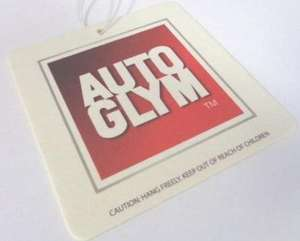 Ebay sgpetchmiddlesbrough £1.30 2 x Genuine AutoGlym Air-Fresheners Hanging Tags Fruity Scents Car/Van/Taxi Solo