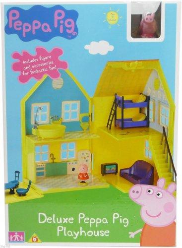 Peppa Pig Playhouse Toy Deluxe Playset - £23.99 @ 3hg-ltd eBay