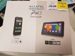 "Alcatel Pixi 3 7"" Tablet and SIM free mobile bundle £39.99 at Tesco Sunderland Extra"