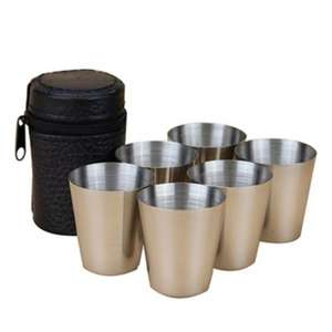 6 Stainless Steel Shot glasses plus a case for £1.61 @ Aliexpress /  Gaga Dream