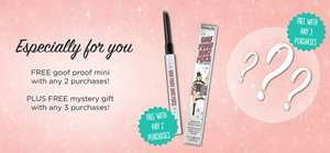 Spend just £10.80 to get 2 free benefit gifts @ Debenhams