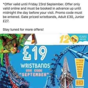 Blackpool pleasure beach wrist bands now £19 with code instead of £30!