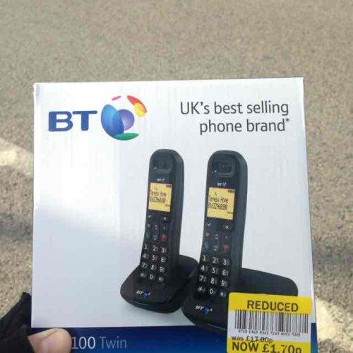 BT1100 Twin Cordless Phones £1.70 instore Tesco Farnworth