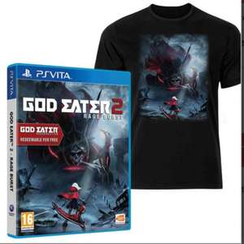 God Eater 2 Rage Burst PS Vita Game (Inc God Eater Resurrection) with Bonus DLC + T-Shirt £24.29 @ 365games