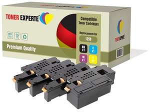 Set of 4 Compatible Colour Laser Printer Toner Cartridges for DELL 1250c 1350cn 1350cnw 1355cn 1355cnw C1760nw C1765nf C1765nfw C17xx - £13.89  (Prime) / £18.64 (non Prime)  Sold by Toner Experte and Fulfilled by Amazon.