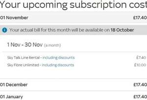 Sky Broadband Unlimited Fibre Retention Deal - £17.40 (inc. Line Rental) for 12 months