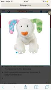 Snowman snow dog bean toy £2 @ Tesco direct / ELC - £2 P&P