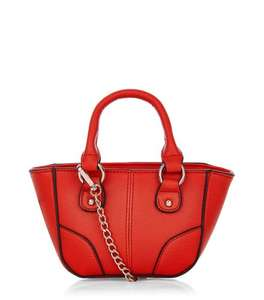 updated 22/09 - Newlook ladies Red Contrast Trim Mini Tote Bag £5.40 + 1.99 Delivery Next Day & Nominated Day . many other handbag deals in comments [use code MAGICTEN]