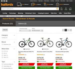 Up to 20% off Boardman Bikes At Halfords