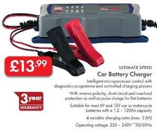 Car or Motorcycle 6V/12V Battery Charger - £13.99 - LIDL (Silvercrest) - 3 Year Warranty