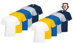T-Shirts Fruit of the Loom x 10 @ Groupon £16.99 incl postage