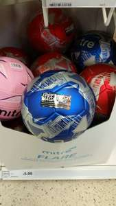 Mitre Flare Ball - Metallic Blue or Red and 4 issues of Match Magazine £6 (Total value £16.96) @ Tesco