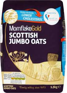 Mornflake Gold Scottish Jumbo Oats (1.5Kg) was £2.55 now £1.27 @ Ocado
