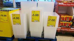 tesco storage boxes - 32l underbed £4/ 45l box with lid £5/ 80l box £7