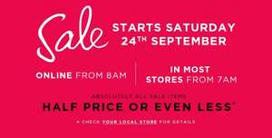 Next Mid Season Sale - This Saturday 24th From 7am