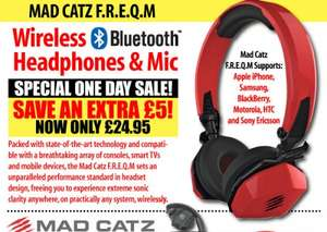 mad catz f.r.e.q.m wireless headphones - £24.95 - ijtdirect (£3.99 del)