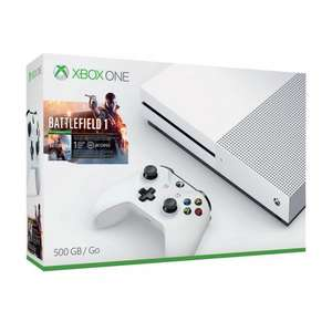 Xbox One S 500GB & Battlefield 1 & 1 month EA Access £224 with code @ Tesco Direct