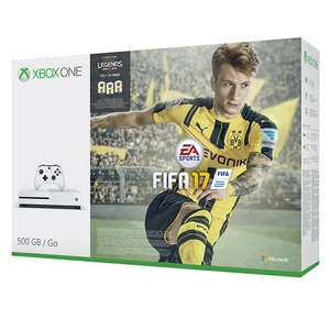 Microsoft Xbox One S Console, 500GB, with FIFA 17 £224 @ John Lewis
