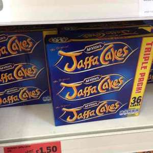 Jaffa Cakes Triple pack for £1.50 @ sainsbury's