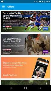Now TV Sky Cinema, 2 months for £2 via Chromecast