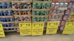 any 3 cases of pop for £15.00 or £5.99 a case @ Farmfoods