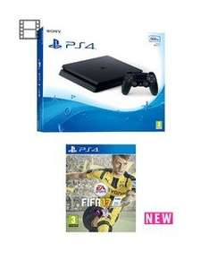 PS4 Slim 500GB Console with FIFA 17 - £210 @ Very with £50 back offer.