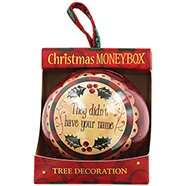 Choice of 100+ Personalised Money Box Christmas Baubles £1.60 each with code + Free C+C @ The Works