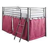 Mika Midsleeper Silver Metal Bed Frame with Pink Tent £62.45 Del / Mika Trio Metal Bunk Bed £97.95 Del with codes @ Tesco Direct