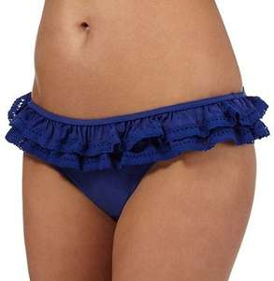 Red Herring Navy ruffle trim bikini bottoms 50% off at Debenhams for £6