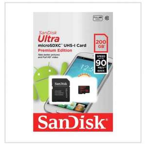 sandisk 200gb micro SD card with adapter was £99.99 now £59.99 @ Argos