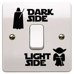 Star Wars Light switch Decal Sticker £1.89 [Buy 1, Get one 20% off] @ havelots2sell via eBay