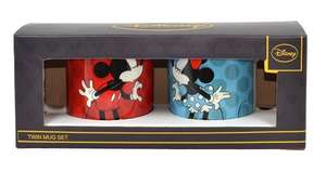Disney Ceramic Twin Mug Set 'Mickey Mouse and Minnie Mouse' £4.49 with code @ Internet Gift Store