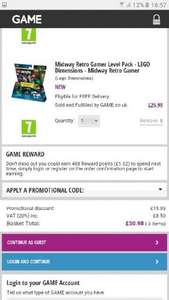 Lego Dimensions Fun Packs. Add 3 items Sold and Fulfilled by Game and get cheapest FREE £10.99 @ Game