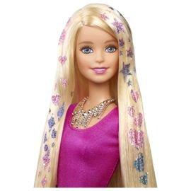Barbie glitter hair doll half price Tescos online £12.50