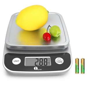 1byone Digital Display Kitchen Scale £6.79 (Prime) Sold by 1Byone Products Inc. and Fulfilled by Amazon.