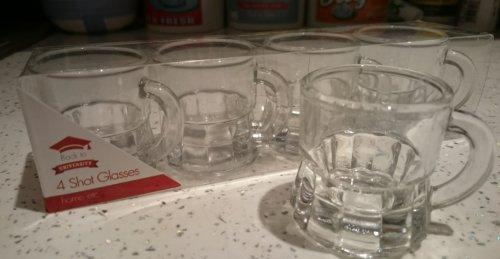 4 pack Mini beer tankard/stein glass shot glasses @ poundland for £1.00